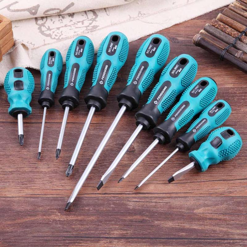 9pcs Useful Screwdriver Set Multi-Bit Tools Screwdrivers Home Repair Kit Screw Driver Multi Hand Tool