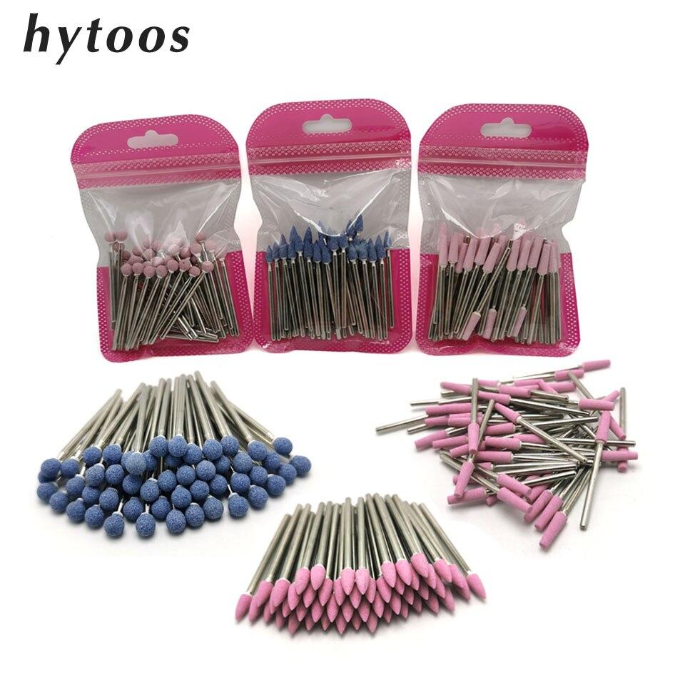 HYTOOS сверло для ногтей из корунда, набор из 50 сверл для маникюра и педикюра, 3/32 дюйма, инструменты для кутикулы|Принадлежности для дизайна ногтей|   | АлиЭкспресс