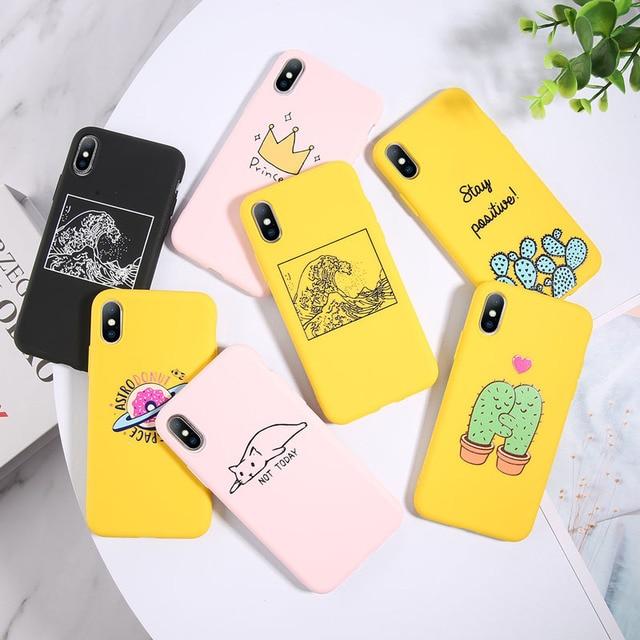 USLION Funny Cartoon Avocado Phone Case For iPhone 11 Pro Max 7 8 6 6s Plus