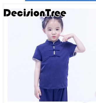 2019 Wushu Kids Chinese Outfits For Kids Wing Chun Tai Chi Kung Fu Uniform Girls Boys Stage Performance Costume Set Tang Suit