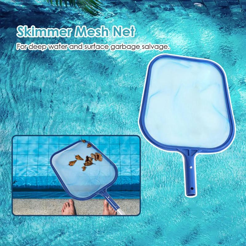 Fish Pond Skimmer Net Professional Gardeing Swimming Pool Cleaning Leaf Skimmer Mesh Frame Net Courtyard Cleaning Tool