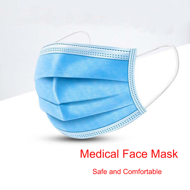 Mask /50pcs 100pcs Disposable Surgical Medical Mask 3 Ply Non Woven Mouth Mask Face Mask Medical Masks