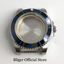 цена на Top Quality 40mm Silver Color Watch Case with Ceramic Bezel Fit ETA 2836 MIYOTA Movement