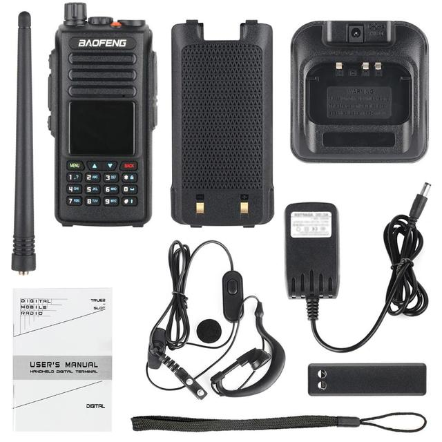 Baofeng DMR DM 1702 (GPS) walkie Talkie VHF UHF Dual Band 137 174 & 400 470MHz Dual Zeit Slot Tier 1 & 2 Digital Radio