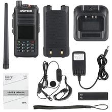 Baofeng dmr DM 1702 (gps) walkie talkie vhf uhf banda dupla 137 174 & 400 470 mhz slot de tempo duplo nível 1 & 2 rádio digital