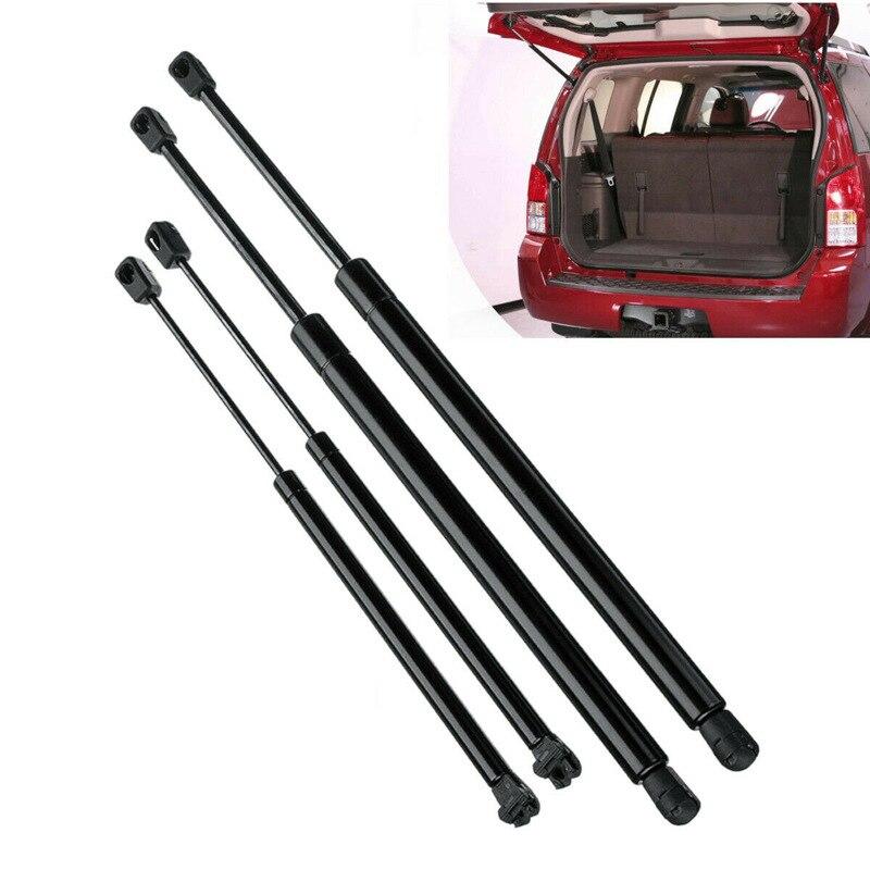 4Pcs Rear Window+Tailgate Gas Struts Support Lift for Nissan Pathfinder R51 2005 2012 Strut Bars     - title=