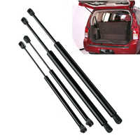 4Pcs Rear Window+Tailgate Gas Struts Support Lift for Nissan Pathfinder R51 2005-2012