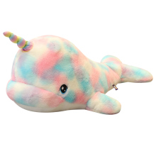 Huggable Colorful Narwhal Rainbow Whale Fish Marine Cute Plush Toy Stuffed Animals Plushies Toys Kawaii Soft Plushie AP