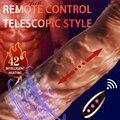 Automatische Teleskop Drehen Perlen Dildo Vibrator Realistische Penis Sex Spielzeug Für Frauen Wireless Remote Heizung Dildo Vibrator