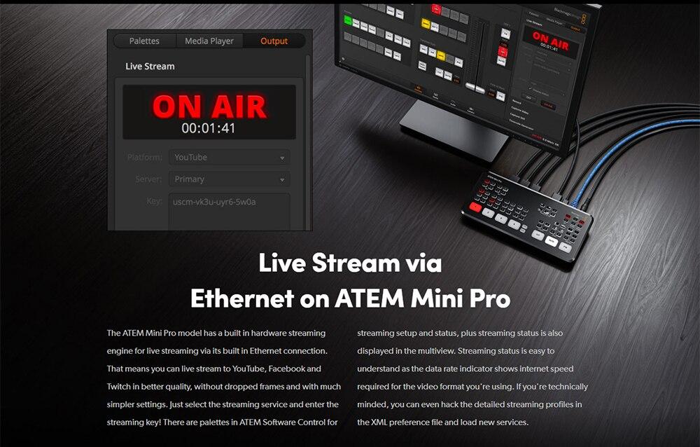 vídeo switcher 4 hdmi multi-view e gravação
