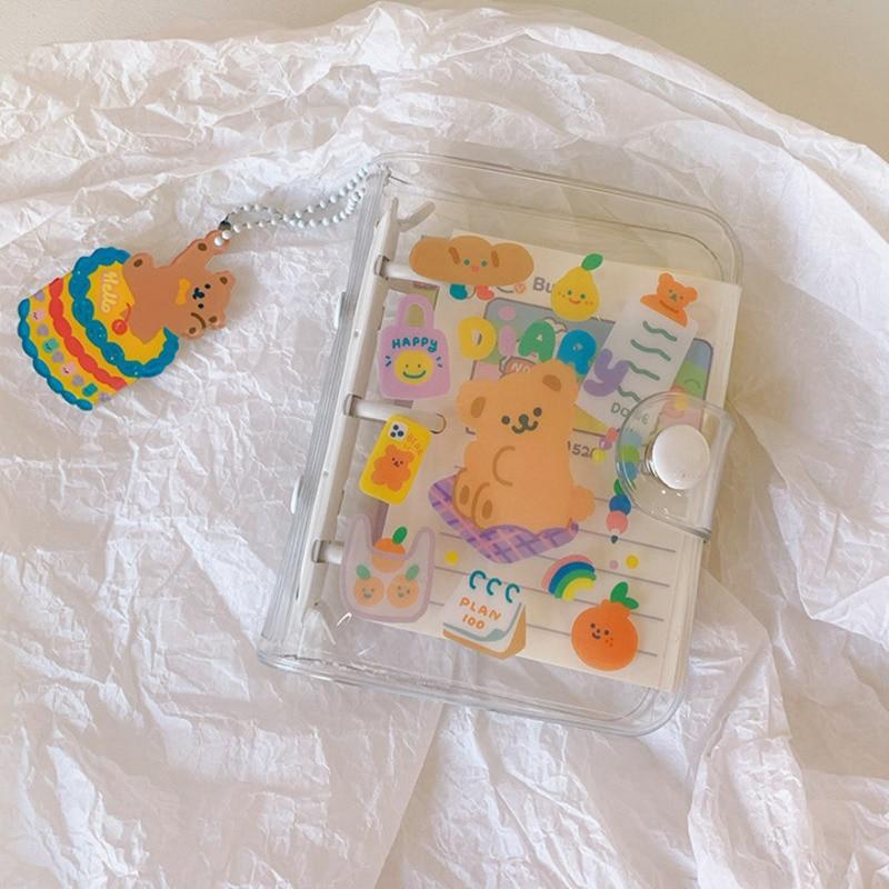 Free ShipâSchool-Supplies Account Book Mini Kawaii Animal Transparent Creative Loose-Leaf Portable