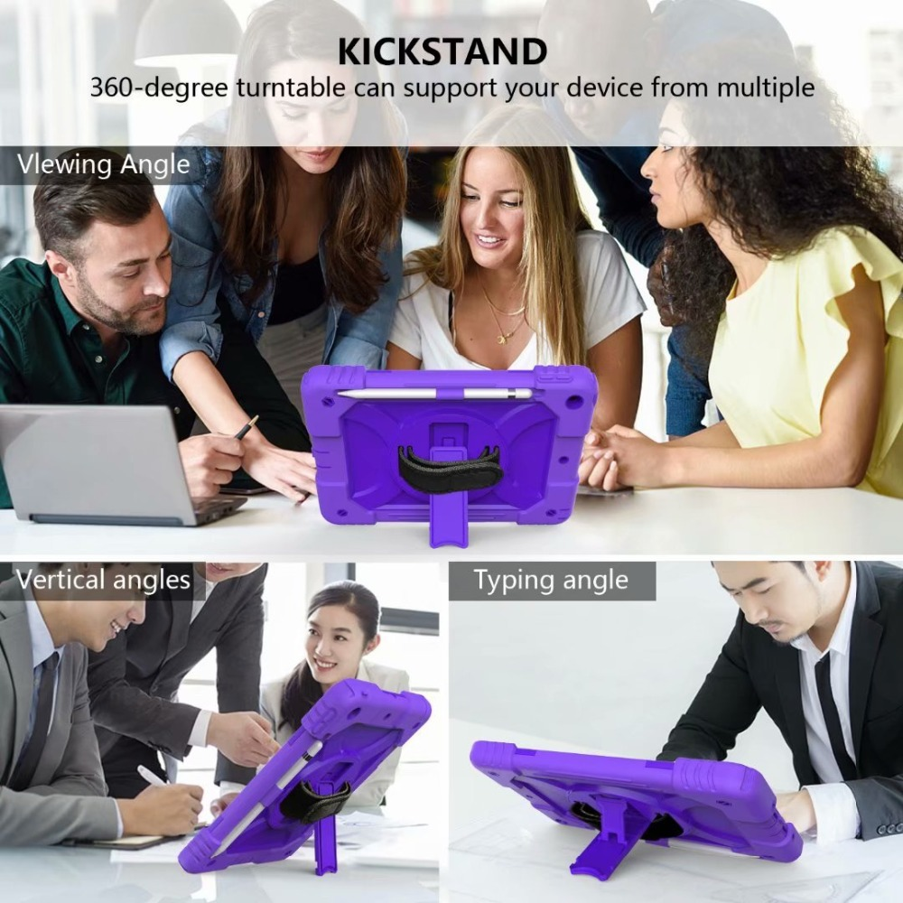 Strap For Cover Pencil Case iPad Holder For iPad 360 Stand 7th Hand Generation Rotating