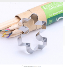 1pcs DIY Stainless Steel Jigsaw Puzzles Shaped Cake Mould Fondant Molds Biscuit Cookie Cutters Cake Decorating Tools For Baking(China)