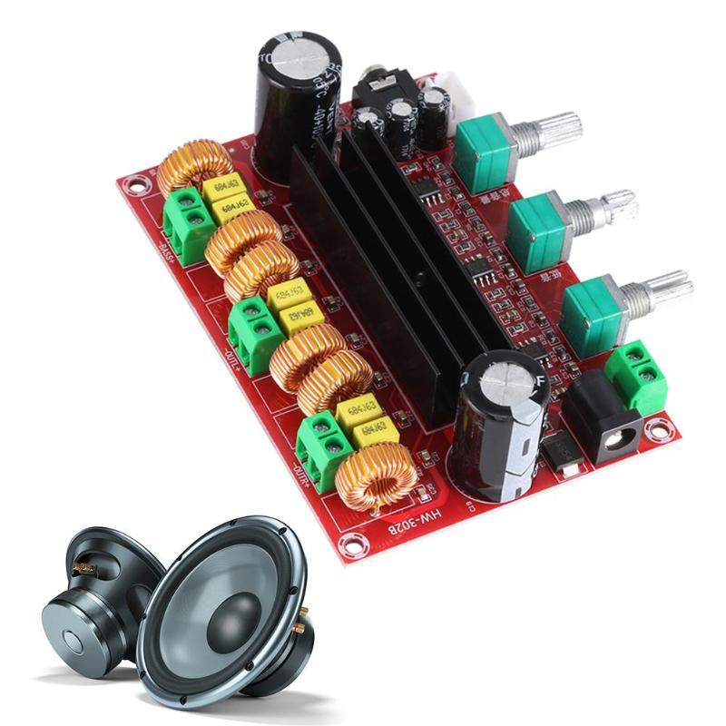 TPA3116D2 2,1 стерео высокой мощности цифровой аудио усилитель плата DC 24V 80Wx2 + 100W сабвуфер Прямая поставка