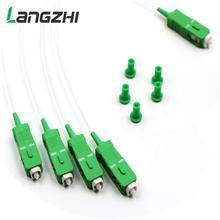 10Pcs Nieuwe Stalen Buis 1X4 Differentieel Mini Blockless Sc Apc Connector 1*4 Glasvezel Plc splitter Kabelboom