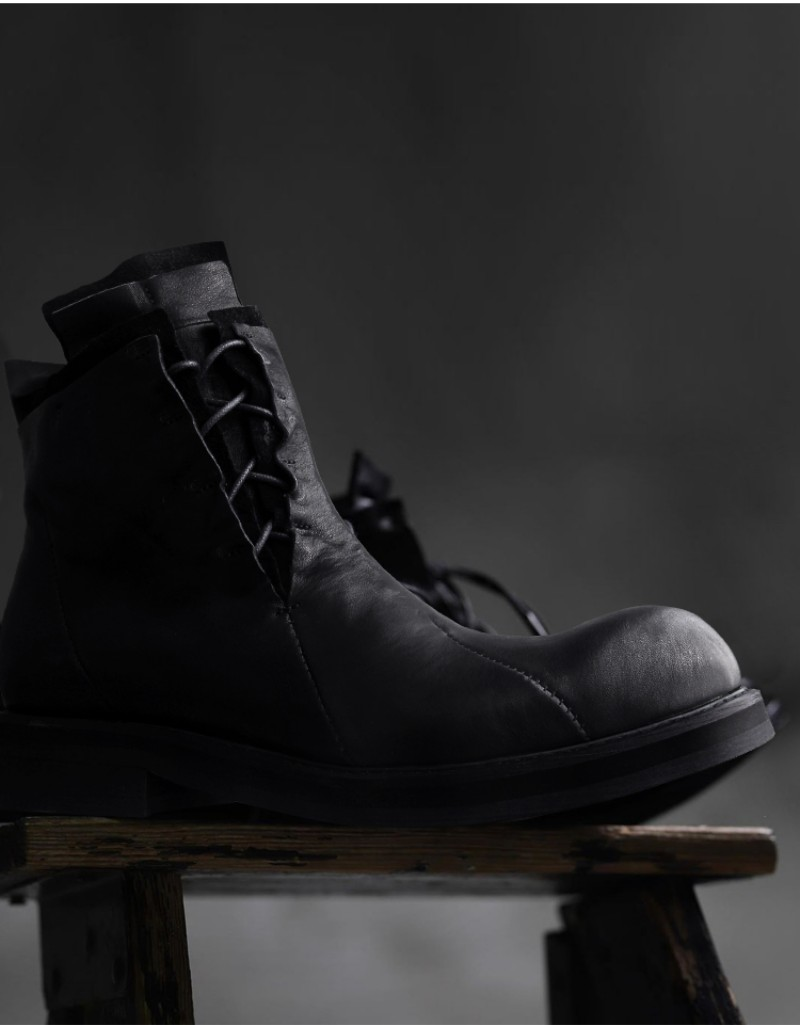 real irregular emendado homens botas curtas huarajuku