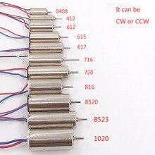 3v 3.7v 0408,412,612,615,617.716,720,816,8520,1020,8523 ultra-alta velocidade coreless dc motor rc zangão cauda uav motor acessórios