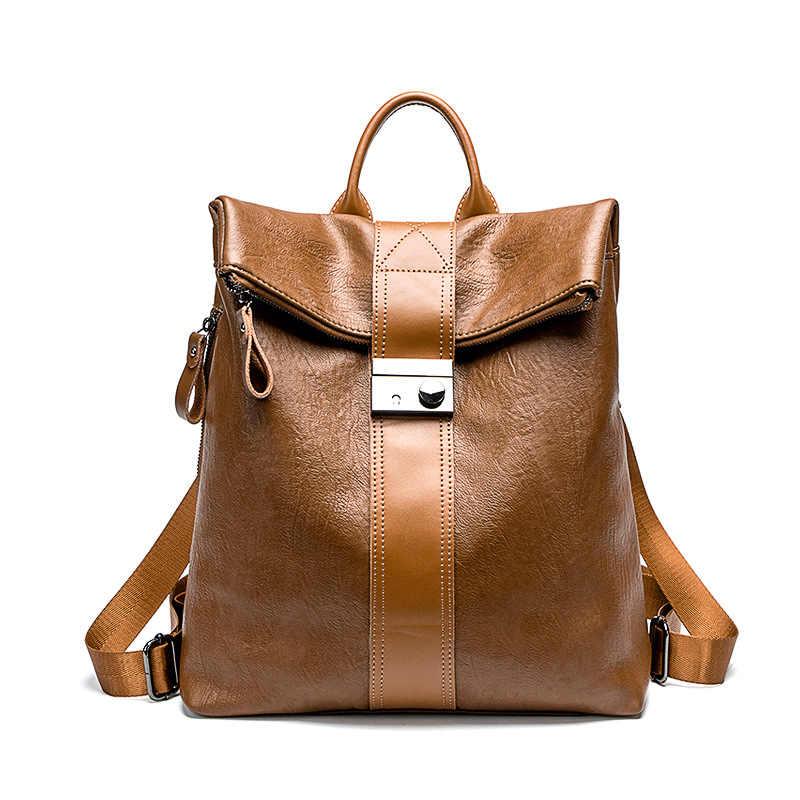 حقائب ظهر نسائية أنيقة وجذابة من الجلد الطبيعي عالية الجودة حقيبة سفر للفتيات والسيدات في المدارس اليومية Daliy C1148