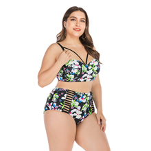 2019 Women Bikini Set Push Up Bathing Suit Swimsuits Plus size Swimwear & Bikinis 4XL 3XL 5XL high quality women s swimsuits push up plus size swimwear black white high neck bikinis set lace sheer bathing suit with tassles