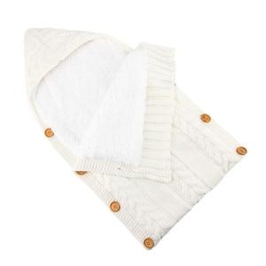 Image 3 - เด็กทารกเด็กแรกเกิดกระเป๋าฤดูหนาวขนแกะ Swaddle ผ้าห่มขนาดใหญ่รถเข็นเด็ก Wrap สำหรับชายหญิงถัก Sleep Sack