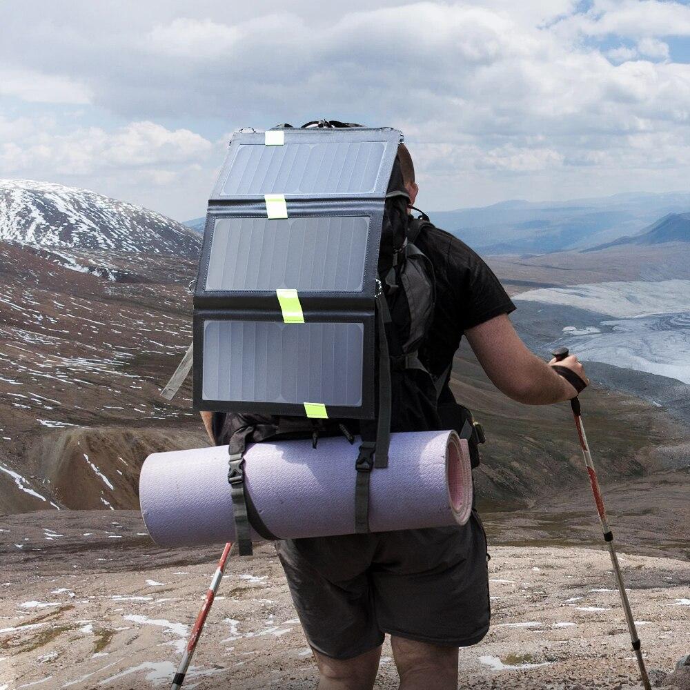 Image 5 - X DRAGON 20 واط لوحة للطاقة الشمسية شاحن بطارية الطاقة الشمسية المحمولة شاحن التكنولوجيا آيفون باد أندرويد الهواتف المشي لمسافات طويلة في الهواء الطلق20w solar panel chargersolar panel solar panelcharger solar -