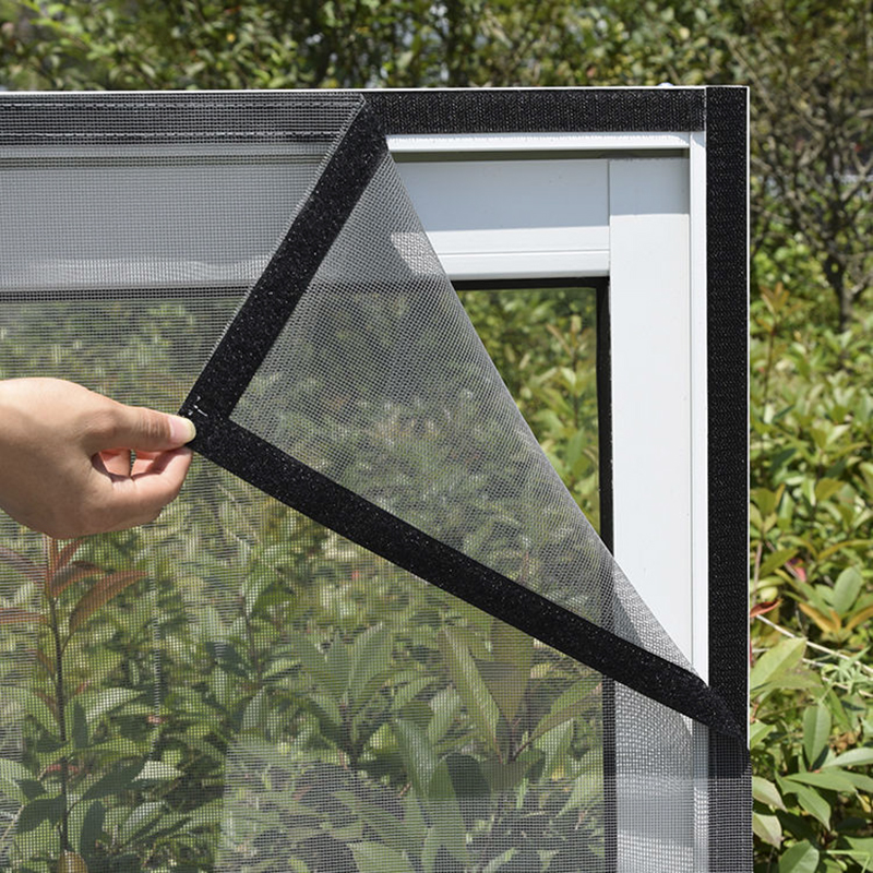 Insect Window Screen Mesh,Indoor Anti Fly Curtain Tulle Summer Invisible Anti-Mosquito Removable Washable Customize Screen Net 4