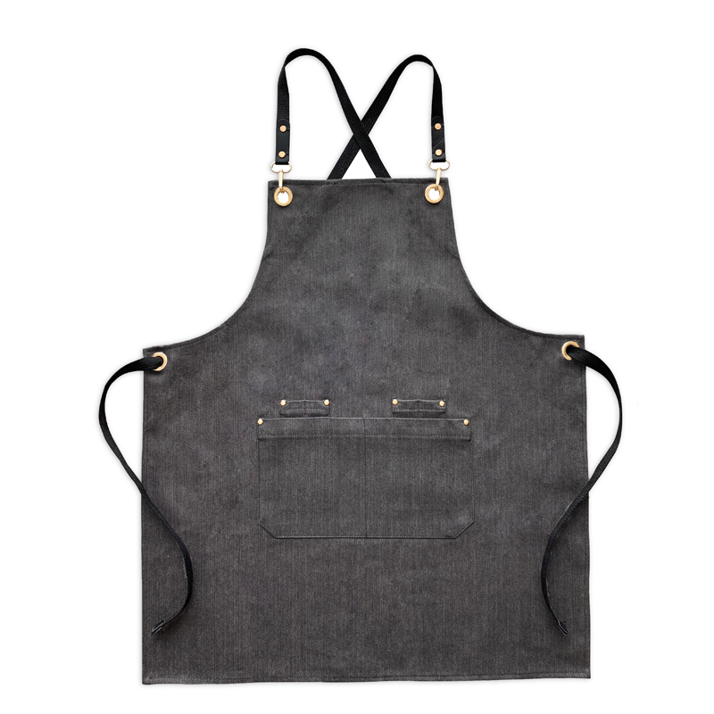 Image 5 - New fashion denim aprons Cortex apron for the kitchen unisex Work delantal bartender pinafore bib pocket gift for man smocks-in Aprons from Home & Garden