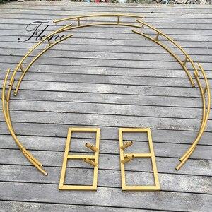 Image 5 - חיצוני כפול חתונה קשת עגול טבעת חג המולד רקע Stand ליל כל הקדושים המפלגה עיצוב הבית שלב רקע מעגל קשת