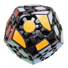 Lanlan dodecaedro cubo mágico quebra-cabeça iq cérebro velocidade quebra-cabeças brinquedo aprendizagem & educação cubo mágico personalizado jogo cubo brinquedos