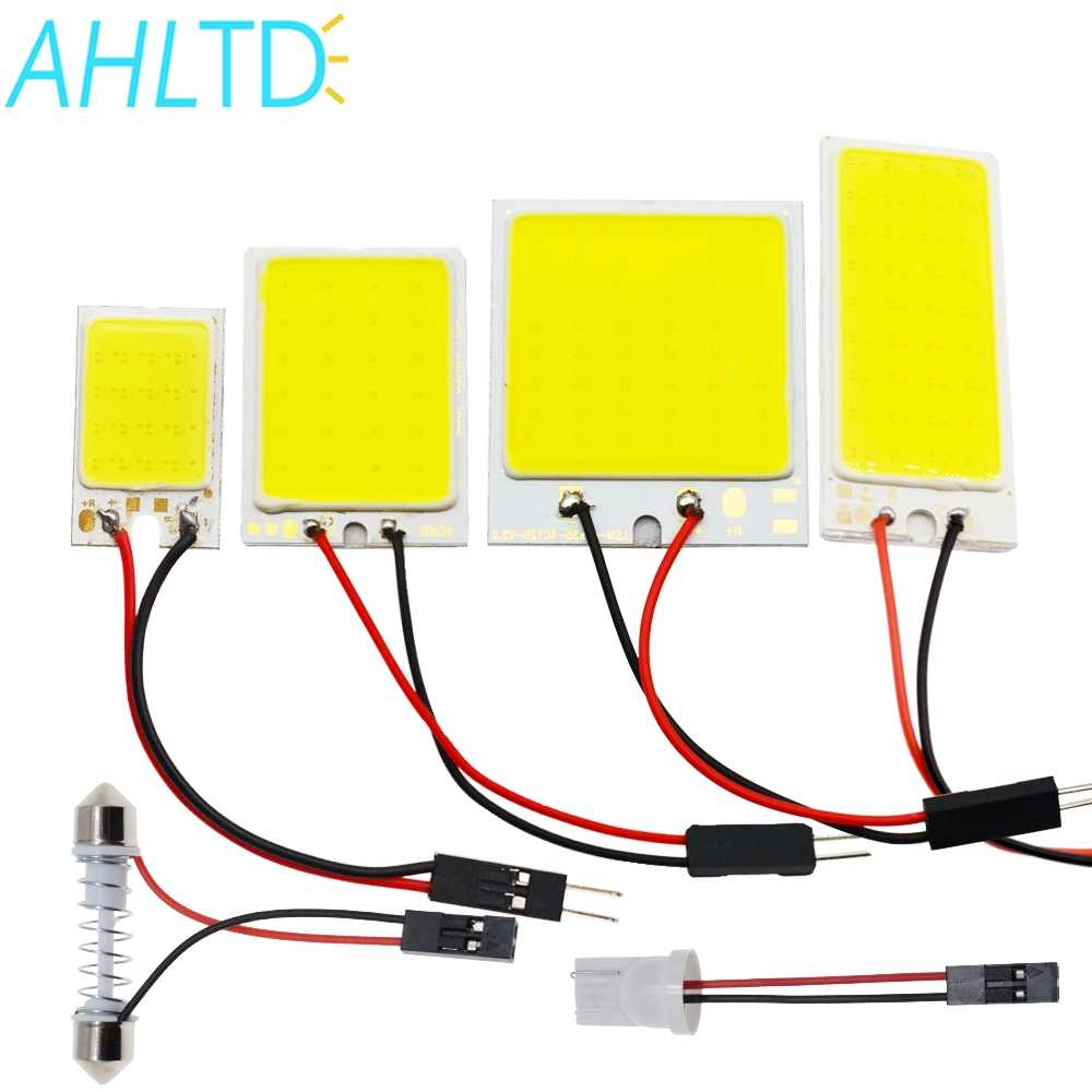 Car Led T10 C5W Cob 24 36 48SMD White Reading Car Led parking Bulb Auto Interior Panel Light Festoon License Plate light Bright