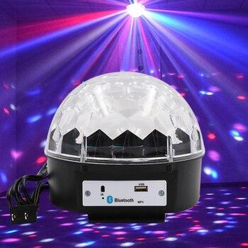 Хрустальный магический шар свет громкоговоритель проектор Dj оборудование лазерное светодиодное музыкальное освещение Smart Bluetooth 4,0 вечерние дискотеки