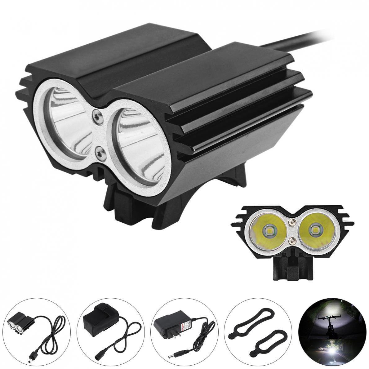 SolarStorm 5000LM X2 XM-L T6 phares de LED de vélo étanche avec batterie rechargeable + chargeur