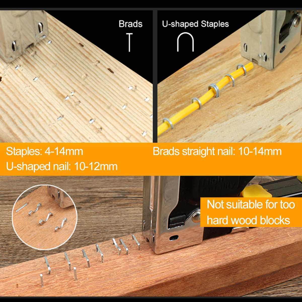 Multitool do paznokci zszywacz zszywacz tapicerski do drewniane drzwi tapicerka fritowania nit Gun 3-way ręczny o dużej ładowności pistolet do gwoździ