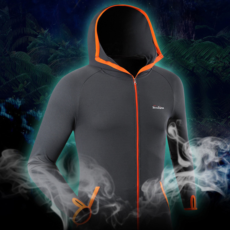 Ice Silk Breathable Fishing Jersey Summer Outdoor Running Camping Clothes Sunscreen Daiwa Prorex Anti-UV Hiking Roupa Pesca