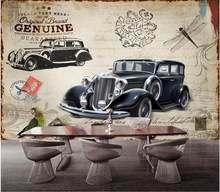 3d wall murals wallpaper for living room British style retro classic car tv background home decor photo wallpaper for walls 3 d(China)