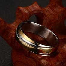 Anillo de boda Vnox para hombre y mujer, acero inoxidable, Color Negro, Rosa y dorado, bolsa de terciopelo Gratis, Regalo