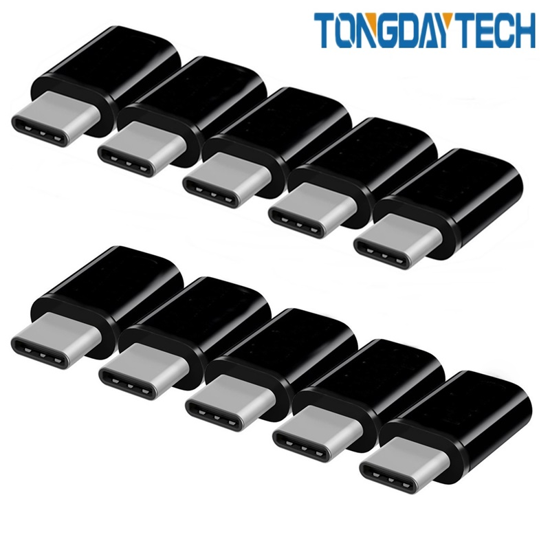 Tongdaytech USB C Adapter 10 Pack Type C Male To Micro Female Adapter OTG Type-C Converter For LG Samsung S10 S8 Type-C Adapter