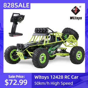 Wltoys 12428 1/12 Scale 2.4G 4WD RC Climbing Car 50km/h High Speed Electric RC Car Off Road Buggy Crawler Vehicle for Kids(China)