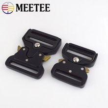 Meetee 3.8/4.5cm Webbing Bag Strap Metal Buckles Side Quick Release Buckle Shackle Belt Clip Clasp DIY Bags Clothes Accessories