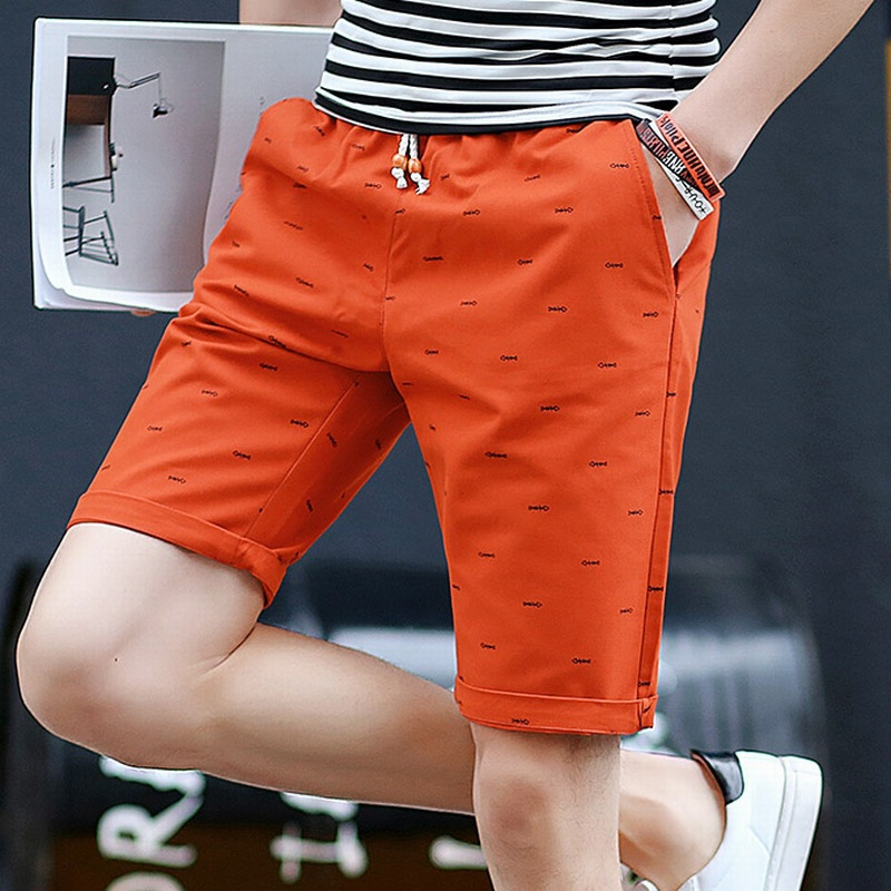 Summer New Style Men's Casual Shorts Large Size Pure Cotton Pants Fashion Printed Shorts Men's Thin Beach Shorts