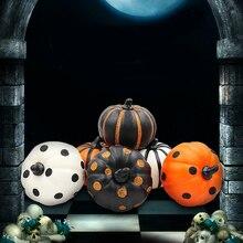 2019 1pc Pumpkin Ornaments Simulating Halloween Foam Creative Party Decorative Large Vegetable Home Showcase Decor