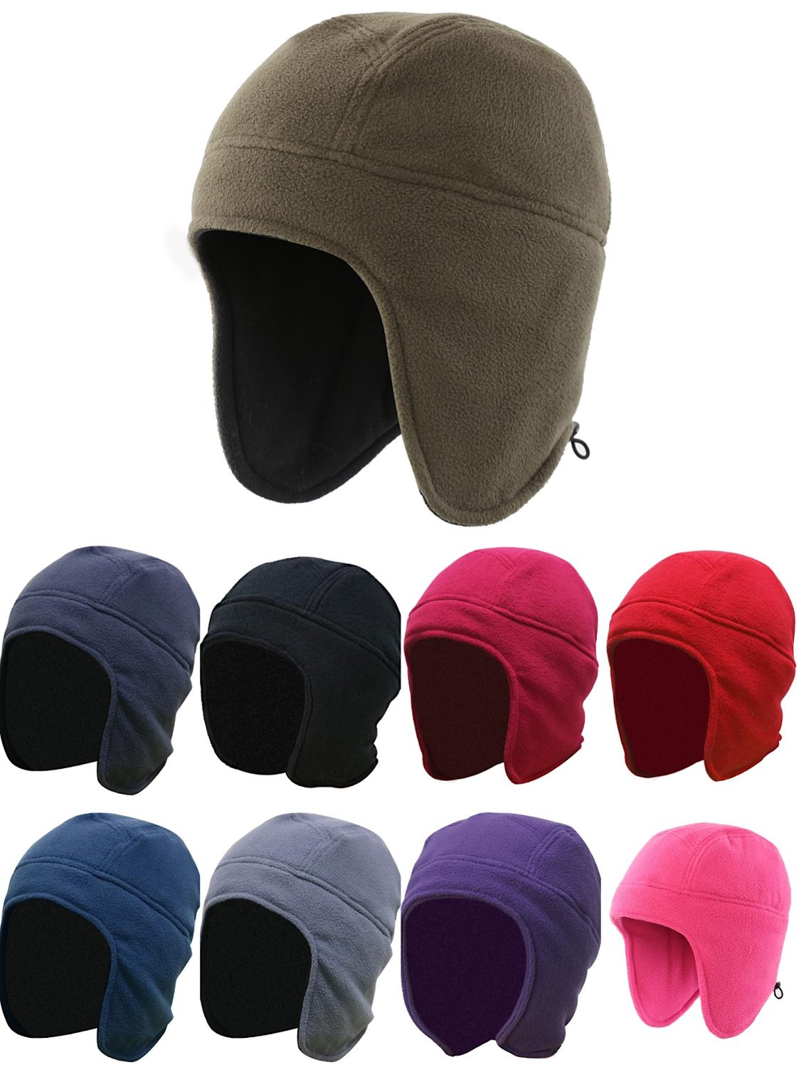 Connectyle Men's Womens Warm Fleece Beanie Earflap Winter Hat Outdoor Skull Caps