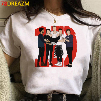 Hot One Direction T Shirt Women Kawaii Cartoon Harry Styles T-shirt Treat People with Kindness Graphic Tees TPWK Tshirt Female 1