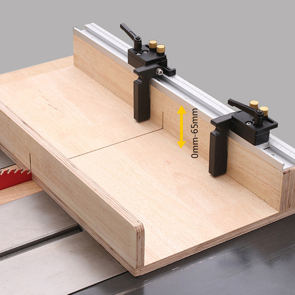 Woodworking T-Slot Miter Aluminum Alloy T-Track With Scale/miter Track Stop Strong Table Clamping Ability Tools For 65mm Wood