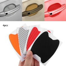 4PCS Car Aint Mouldings Protector Cover Door Film Sheet Handle Scratch Sticker Car-styling Car Exterior Accessories Auto Parts car stickers exterior accessories for volkswagen vw golf7 exterior trunk scuff plate rear door protector car styling auto parts