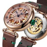2020 New Lovers watch automatic mechanical watch men women fashion watches Couples waterproof roman numeral scale clock hollow