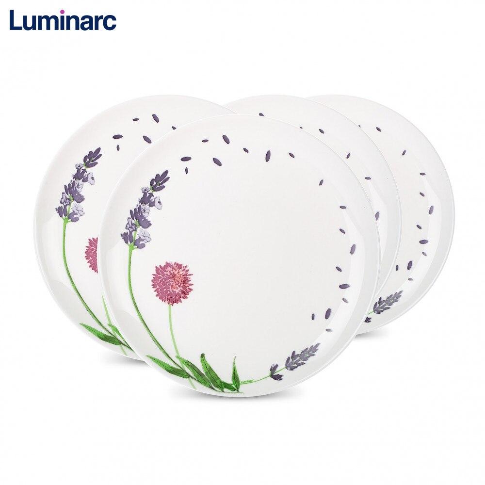 Ensembles d'assiettes Luminarc ensemble vaisselle soupe dessert assiette à dîner plats de cuisine bouillon desserts déjeuner table réglage