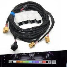 자동차 인테리어 여러 가지 빛깔의 Led Footwell 빛 여러 색상 램프 케이블 배선 하네스 폭스 바겐 Passat B8 골프 7 MK7 7.5 Tiguan MK2