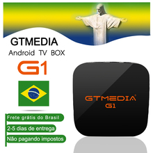 цена GTMEDIA G1 Android 7.1 tv box s905W 1GB 8GB RAM ROM Wifi iptv m3u for smart tv box brasil iptv 4k set top box brazil warehouse в интернет-магазинах
