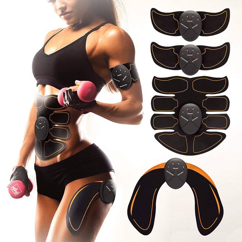Dropshipping EMS Wireless Abdominal Muscle Stimulator Toner Belt Muscle Toner Body Muscle Fitness Trainer  With Retail Box